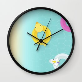Aloha from the beach Wall Clock
