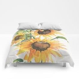 Sunny Sunflowers Comforters