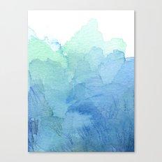 Abstract Watercolor Texture Blue Green Sea Sky Colors Canvas Print