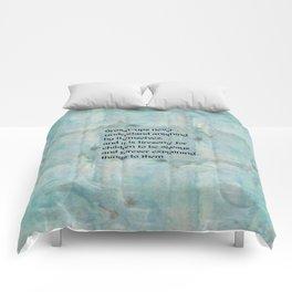 Grown-ups Never Understand Comforters
