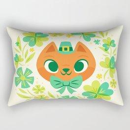 The Luckiest Kitty Rectangular Pillow
