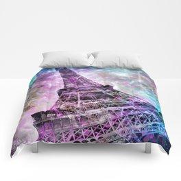 Pop Art Eiffel Tower Comforters