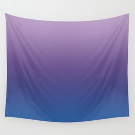 Ultra Violet Blue Lilac Ombre Gradient Pattern Wall Tapestry