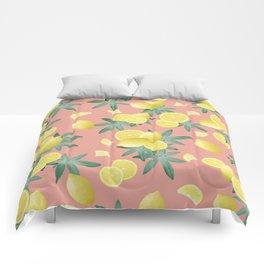 Lemon Twist Vibes #2 #tropical #fruit #decor #art #society6 Comforters