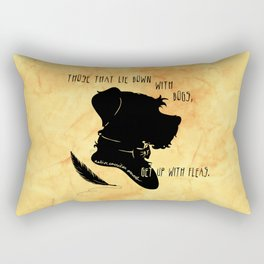 Those That Lie Down With Dogs, Get Up with Fleas Rectangular Pillow