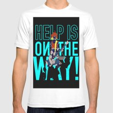 Help is on The Way White MEDIUM Mens Fitted Tee