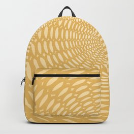 Futuristic Detailed Mandala (Yellow) Different Unique Pattern Backpack