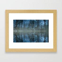 Deep Cool Blue Framed Art Print