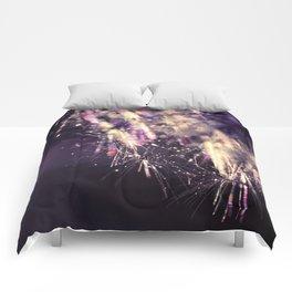 dandelion purple III Comforters