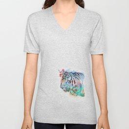 Spray Tiger Unisex V-Neck