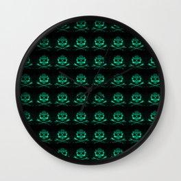 Bitter Poison Skulls Wall Clock
