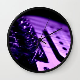 Guitar in Purple fine art photography Wall Clock