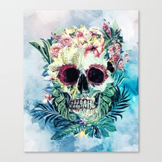 SKULL FLORAL Canvas Print