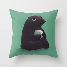 Goldfish makes the best company Throw Pillow