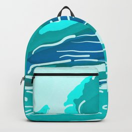 abstract style aurora borealis absdri Backpack