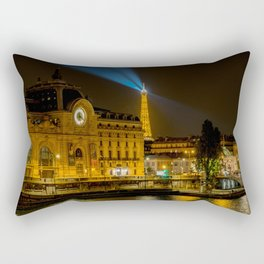 Musee d'Orsay in Paris at night Rectangular Pillow