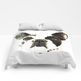 French Bulldog Art - High Contrast Print by Sharon Cummings Comforters