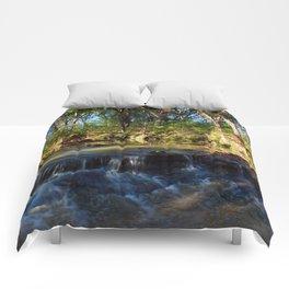 Falls at Prairie Creek Greenway Comforters