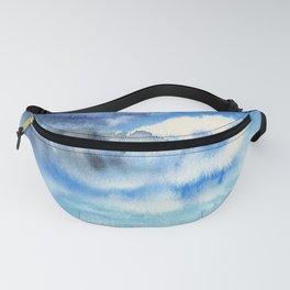 Blue escape - stormy seascape Fanny Pack