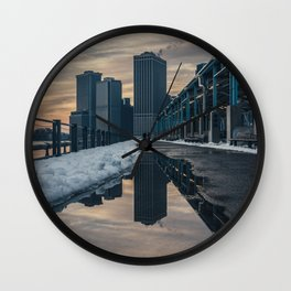NYC relection Wall Clock