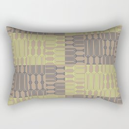 Bosque Gray&LimeGreen Rectangular Pillow