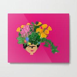 Keep Blooming Friducha Metal Print