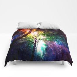 rainbow rain Comforters