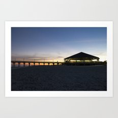 Sunset at the Tybee Island Pavillion Art Print