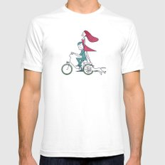 Faster than the wind Mens Fitted Tee White X-LARGE