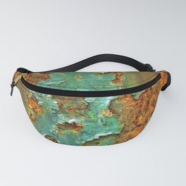 Rust and Deep Aqua Blue Abstract Fanny Pack