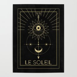 Le Soleil or The Sun Tarot Poster
