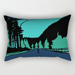 Highway at Night Rectangular Pillow