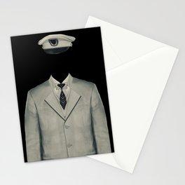Surreal Officer Man Portrait Stationery Cards