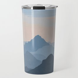 Pastel Sunset over Blue Mountains Travel Mug