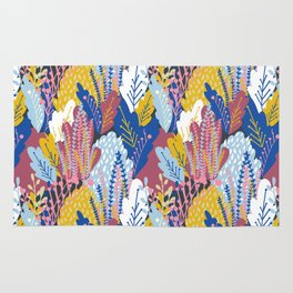 Leafy Meadow in Color Rug