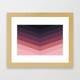 Purple Thunder Storm Framed Art Print