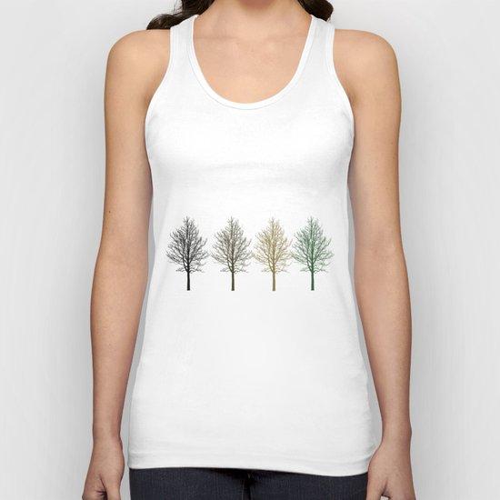 Four Colors Trees Unisex Tank Top