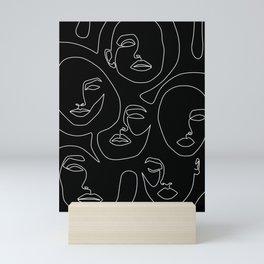 Faces in Dark Mini Art Print