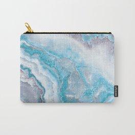 Ocean Foam Mermaid Marble Carry-All Pouch