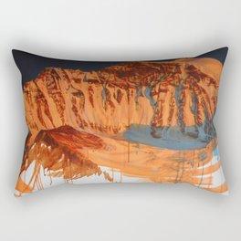 Conversation with a Mountain Rectangular Pillow