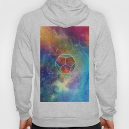 Abstract Sacred Geometry Cosmic Space Tapestry Hoody