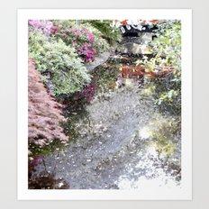 Japanese pond Art Print