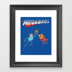 Mega Bros Framed Art Print