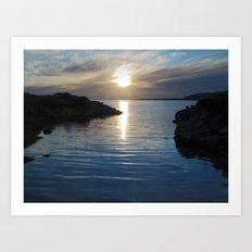 Evening at Trawenagh Bay 2 Art Print