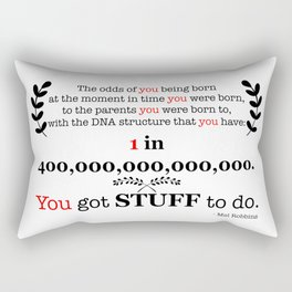 400 Trillion Rectangular Pillow