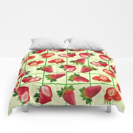Strawberries pattern Comforters
