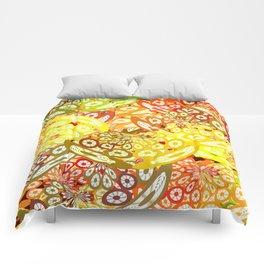 Fruity geometric abstract Comforters