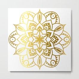 Gold Mandala 1 Metal Print