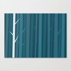 Blue Wood Canvas Print