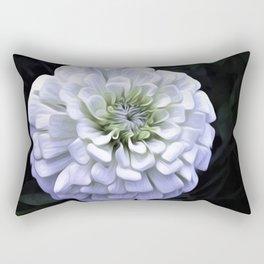 The White Zinnia Rectangular Pillow